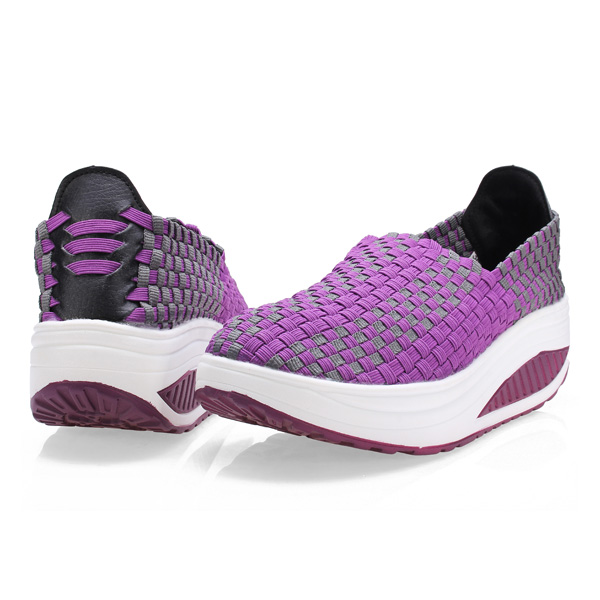 Women's Casual Breathable Knit Shook Shoes Sneakers