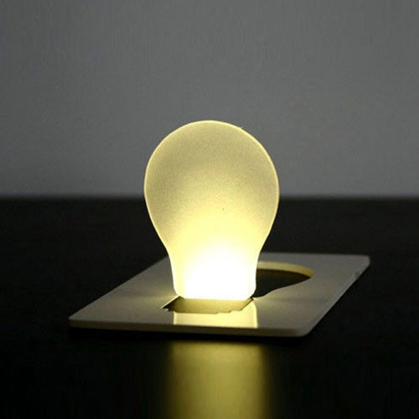 Фото Portable LED Card Light Pocket Lamp Purse Wallet Emergency Light