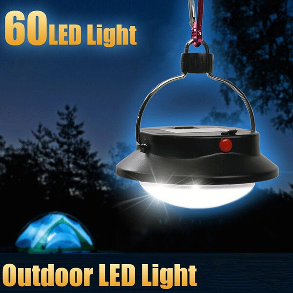 Outdoor Portable 60 LED Camping Hiking Light Tent Night Lamp Rechargeable Emergency Light 20w 2hours rechargeable led portable spotlight ac110 240v led outdoor emergency integrated floodlight