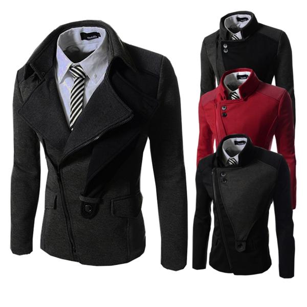 Winter Fashion Casual Slim Men's Jacket Male Coat Zipper by HongKong BangGood network Ltd.