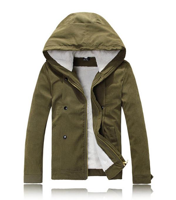Winter Men Hooded Fleece Warm Jacket Coat at Banggood