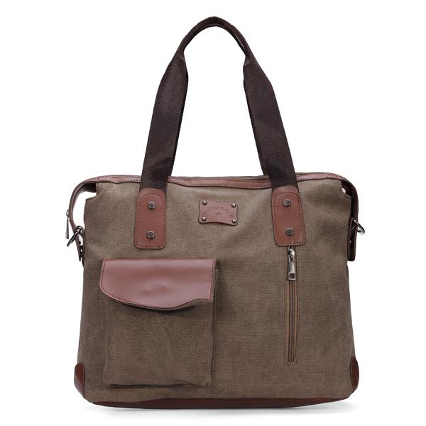 Extra 8% OFF Men Women Canvas Shoulder Messenger Handbag by HongKong BangGood network Ltd.
