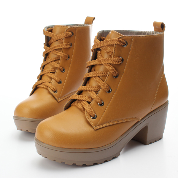 Women's Winter  Round ToeBoots Lace Up Platform Shoes