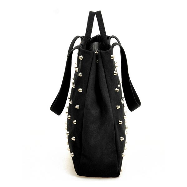 Men Women Rivet Canvas Handbags Shoulder Bags Totes