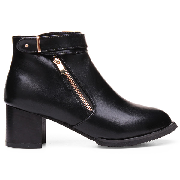 Round Toe Ankle Short Boots