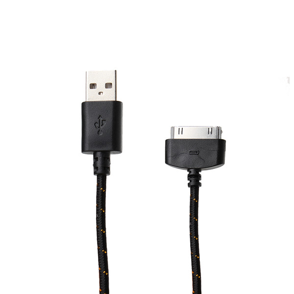 1M Round Braided Fabric USB Data Sync Cable For iPhone 4 4S