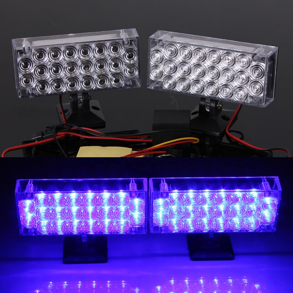 Car Daytime Running Light Flashing Emergency Warning Strobe lights - EachineDaytime Running Lights<br>2 x 22 LED Blue Daytime Running Light Flashing Emergency Warning Strobe lights Specification : Number of panels : 2 Number of LED in each panel : 22 Panel dimensions (each) : 93 x 40 x 22 mm / 3.66 x 1.57 x 0.87 Wire length : approx. 27cm / 10.6 Output power : 4W - 6W Voltage : DC 12V Luminance :220LM Color : Blue Product Features: 100% Brand New and High Quality . Super bright LED Long-lasting . Energy saving Easy installation . Fitment : This LED lights can be used for: Racing Grill warning Light ,any other applications as you DIY Package Contents : 2 x Car LED Flashing Strobe Lights (Blue)<br>