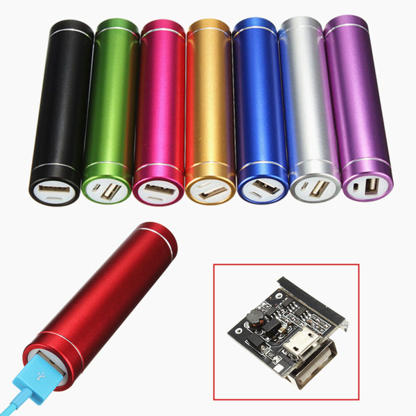 USB Power Bank Case Kit 18650 Battery Charger DIY Box 18650 lithium battery 5v micro usb 1a charging board with protection charger module for arduino diy kit
