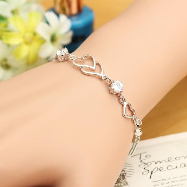 Austrian Crystal Heart Bracelet
