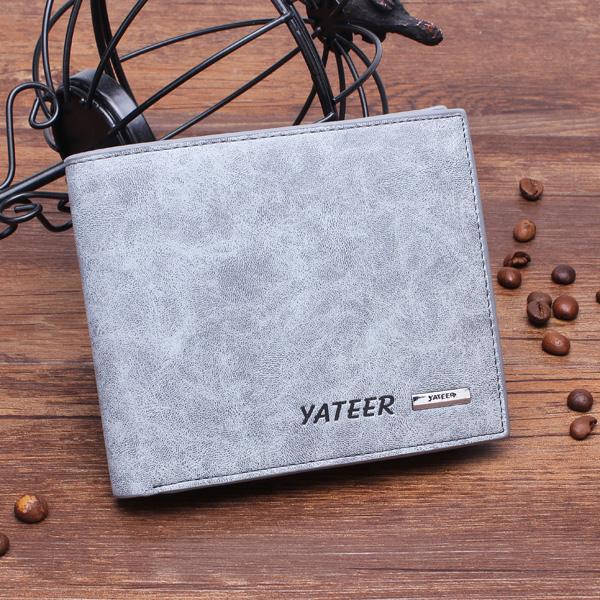 Men's Leather Business Wallet Short Design Male Wallet