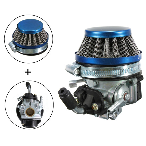 Carb Carburetor+Air Filter For 49cc 50cc 60 66 80cc 2 Stroke Motorized Bike carburetor forrenault glt 11779001 carb