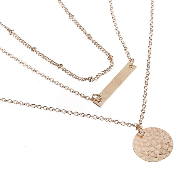 3 Layers Bar Necklace