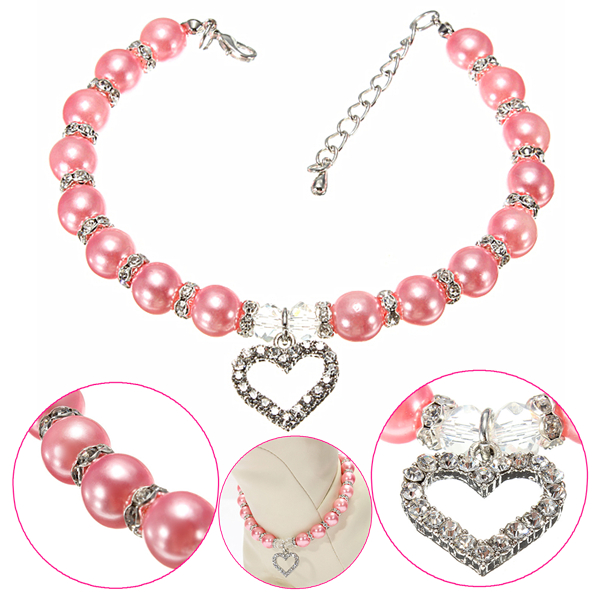 Dog Necklace Collar Pink