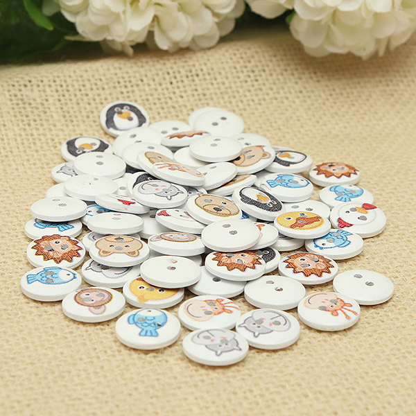 mixed animal buttons