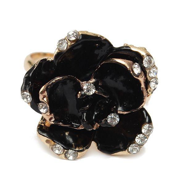 Vintage Rose Flower Ring