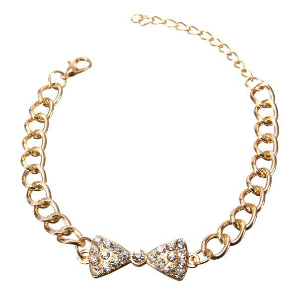 Full Rhinestone Bowknot Bracelet
