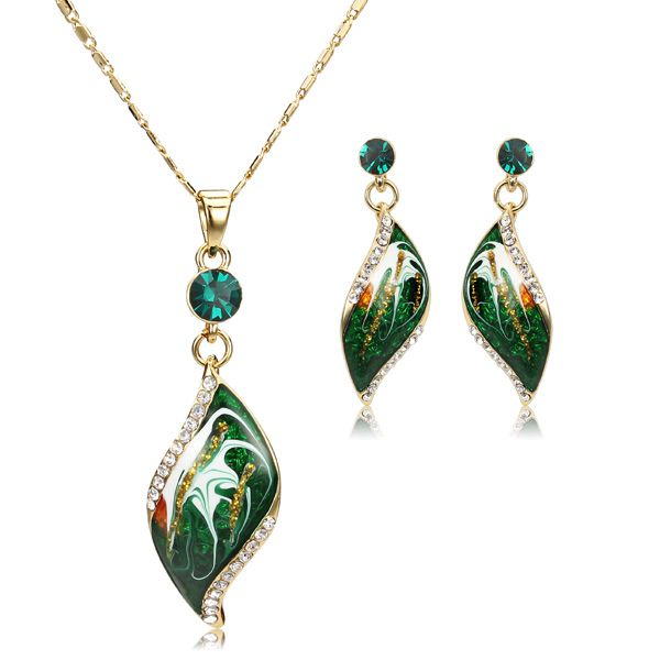 Oil Painting Jewelry Set