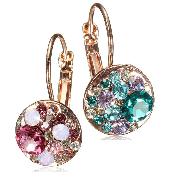 Austrian Crystal Round Earrings
