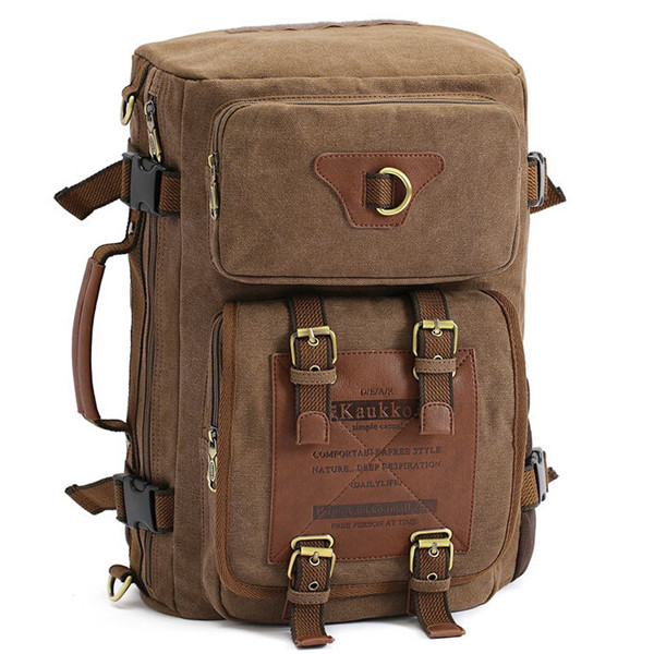 Men's Canvas Army Style Shoulder Travel Tactical Backpacks