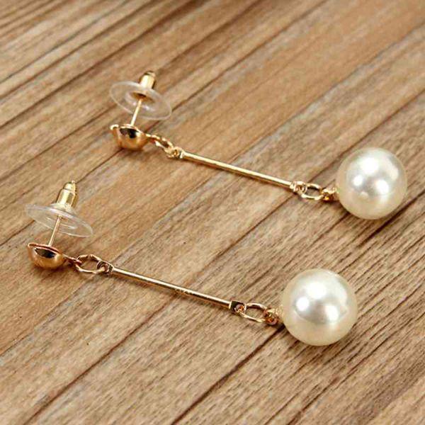 Pearl Long Tassel Earrings