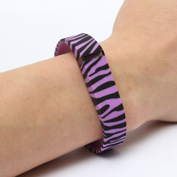 Zebra Sports Wristband Band for Fitbit Flex No tracker With Clasps