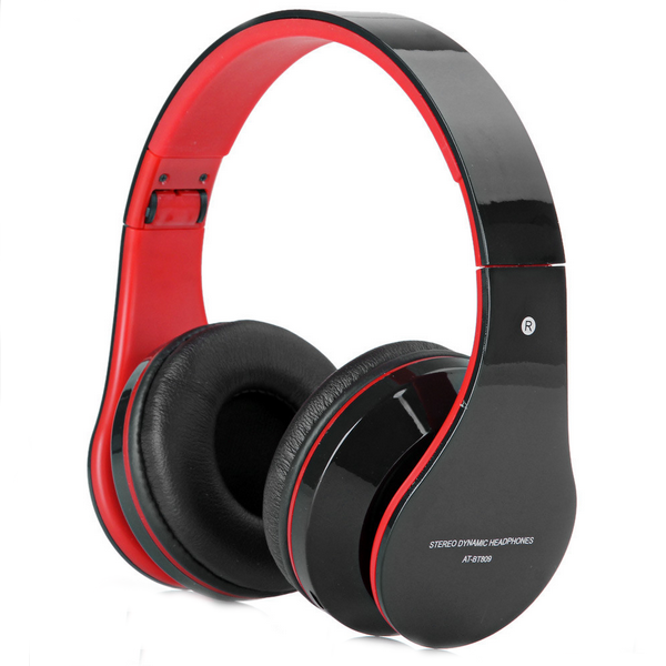 AT-BT809 Foldable Wireless Bluetooth Headphone Headset With Mic FM TF