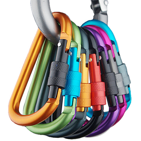 5PCS Safety Buckle Aluminum Carabiner Key Chain Quick Release Lock Multi Colors For Camping Hiking used good condition series 3360 367 2452 with free dhl