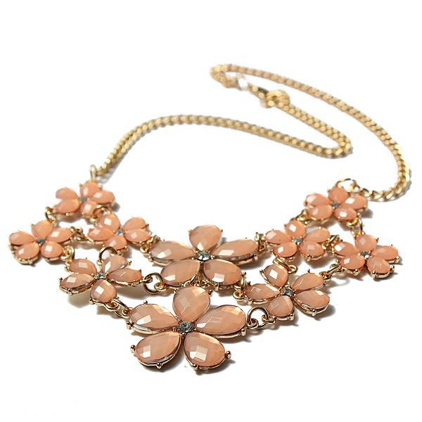 Cute Crystal Flowers Necklace