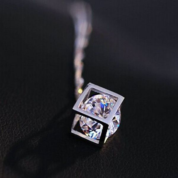 Geometric Crystal Necklace Pendant