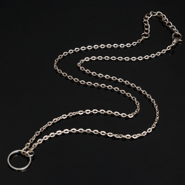 Circle Round Pendant Chain Necklace