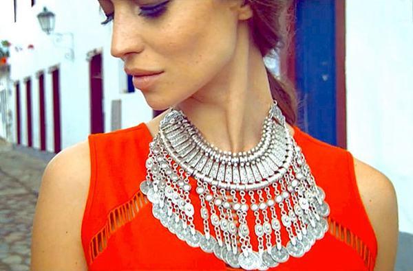 Vintage Alloy Tassels Necklace