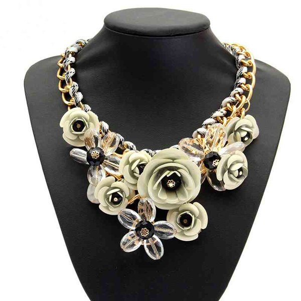 Multicolor Flower Choker Necklace