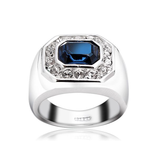 Italina Austrian Crystal Sapphire Ring