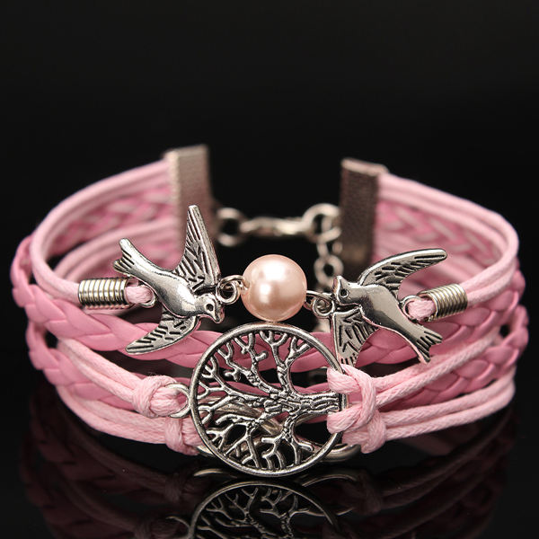 Multilayer Bird Leather Bracelet
