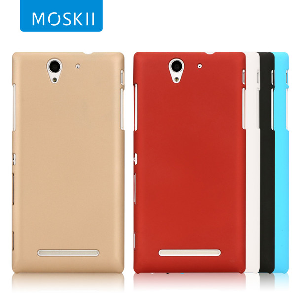 MOSKII Brand Ultra Thin PC Shield Case Cover For Sony Xperia C3 S55