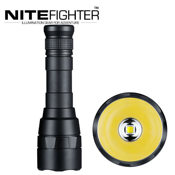 NITEFIGHTER F30B CREE XM-L2 2000LM 5modes LED Flashlight 18650 boruit tactical 15x xm l t6 led flashlight 18000 lumen super bright led torch light hunting lantern 15t6 4x26650 battery charger