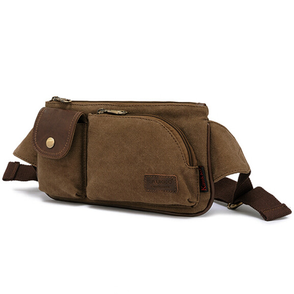 Canvas Waist Purse for Men Outdoor Casual Waist Packs
