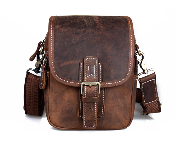 Men Messenger Bag Genuine Leather Crossbody Bag Business Casual Shoulder Bags