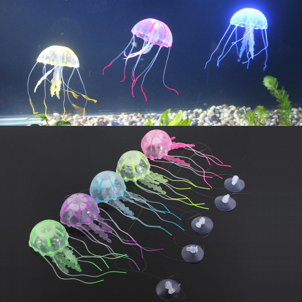 5 colour a set for artificial jellyfish vivid fish