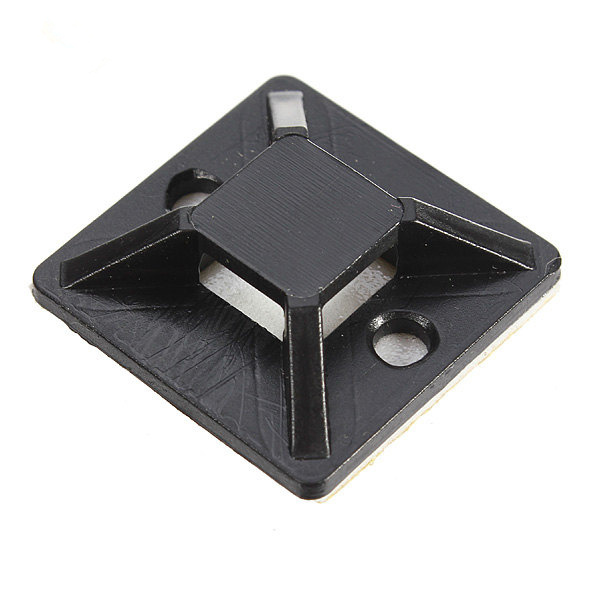 10pcs 20*20CM Black Self-adhesive Cable Tie Mounts Positioning Pieces -- Banggood.com