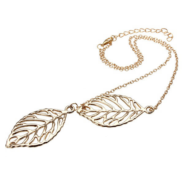 Leaves Brid Pendant Necklace