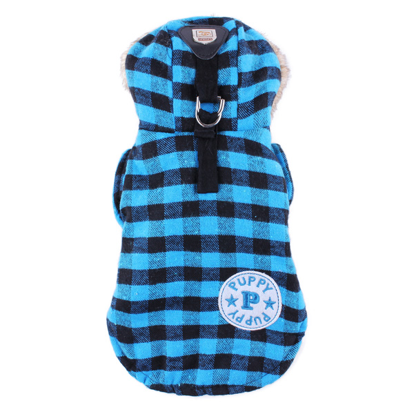 Pet Grid Cotton Coat