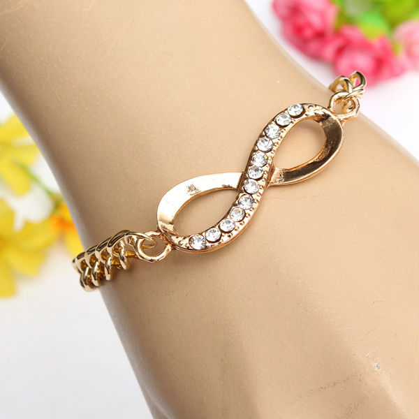 Gold Plated Infinity Bracelet