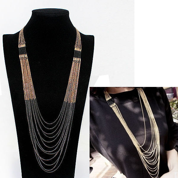Multilayer Tassel Chain Necklace