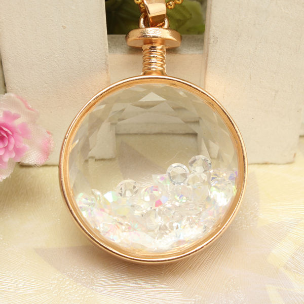 Perfume Bottle Pendant Necklace