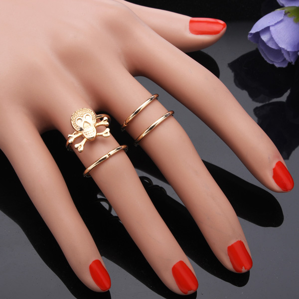 Skull Knuckle Rings