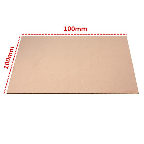 99.9% Pure Copper Sheet Metal Plate 1mm*100mm*100mm -- Banggood.com