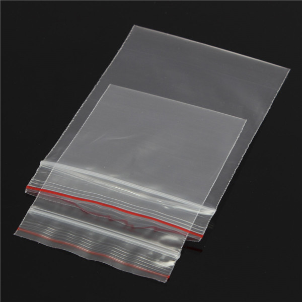 100pcs Resealable Transparent Plastic Zip Lock Bags 85*60mm/100*70mm -- Banggood.com