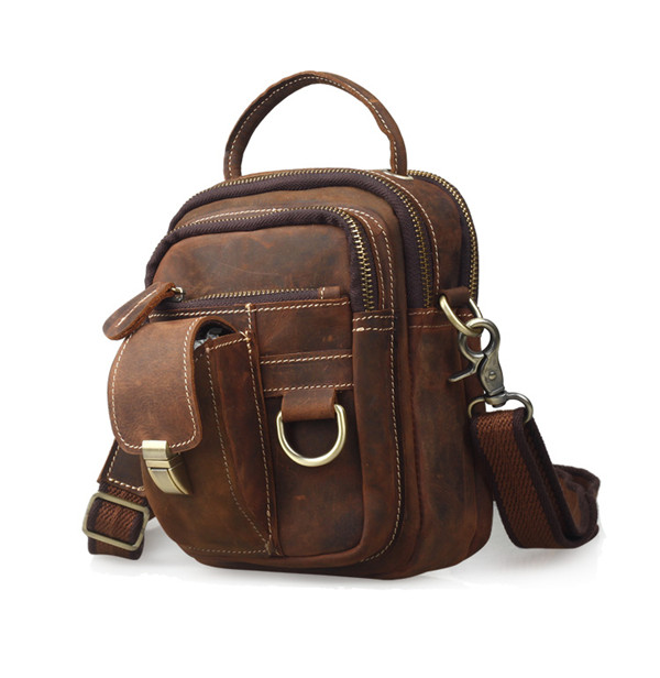 Men's Messenger Bag Retro Shoulder Bag Genuine Leather Men's Bags