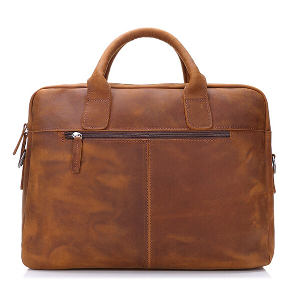 Genuine Leather Handbag Shoulder Leisure Men's Bag Business Briefcase